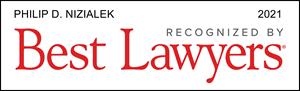 Nizialek 2021 Best Lawyers Badge